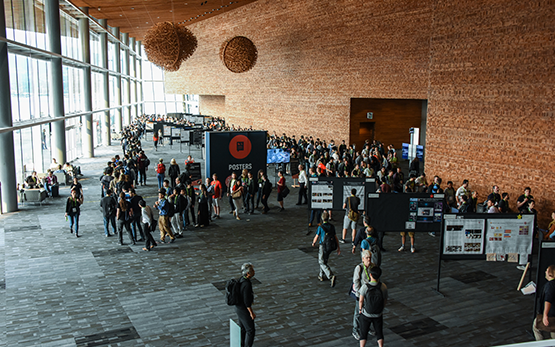 SIGGRAPH attendees fill the Posters hall at SIGGRAPH 2018.
