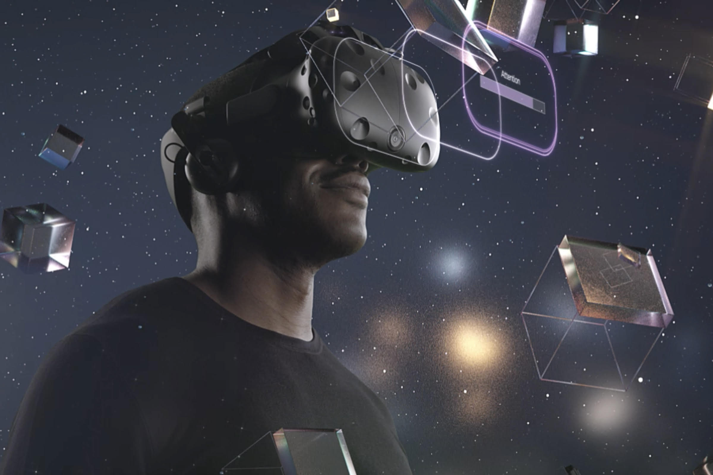 Image of Man Wearing VR Goggles